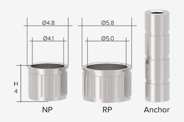 Titanium Rehber Yüzükler (Sleeves)